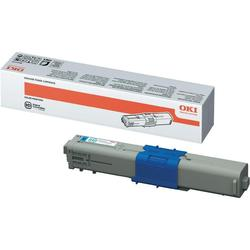 Cyan toner OKI MC562, stor version med 5000 sider
