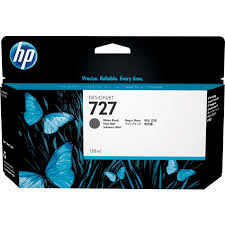 No 727 Blæk til HP DesignJet T930, T1500/1530 og T2500/2530 Photo sort 300 ml