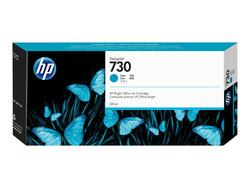 HP blæk No 730 300ml. Cyan ink Cartridge til HP DesignJet T1600 og T2600