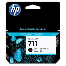 HP blæk No 711 80ml, sort til DesignJet T120 og T520
