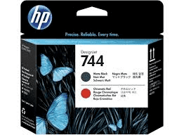 Printhoved, HP No 744 matte black + chromatic red