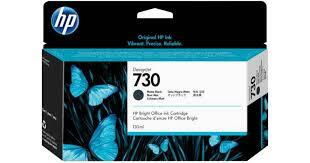 HP blæk No 730 130 ml, Matte black ink Cartridge til HP DesignJet T1600 og T2600
