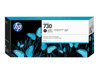 HP blæk No 730 300 ml. Photo black ink Cartridge til HP DesignJet T1600 og T2600