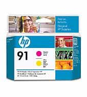Printhoved, HP No 91 magenta + yellow